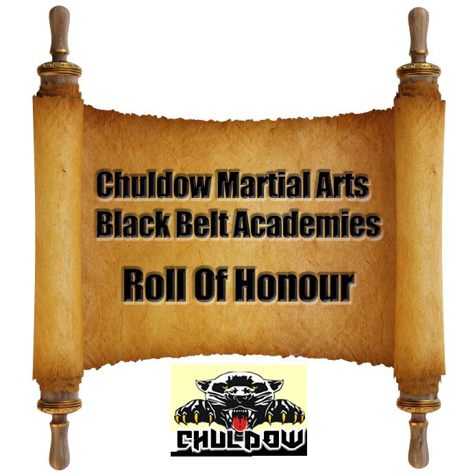 Chuldow Martial Arts Black Belt Academies Roll Of Honour