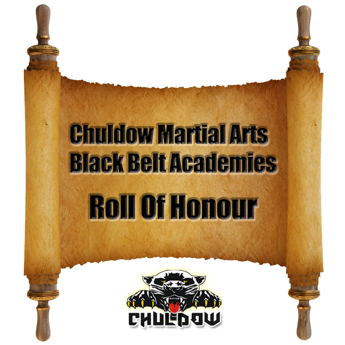 Chuldow Martial Arts Black Belt Academies Roll Of Honour